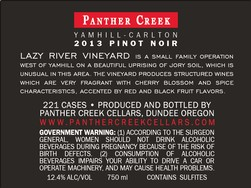 2013 Panther Creek Cellars Lazy River Vineyard Pinot Noir