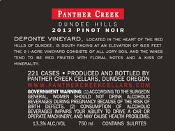 2013 Panther Creek Cellars De Ponte Pinot Noir