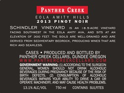2013 Panther Creek Cellars Schindler Vineyard Pinot Noir