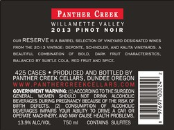 2013 Panther Creek Cellars Reserve Pinot Noir