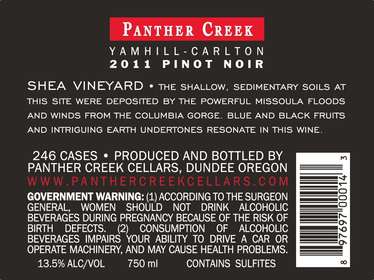 2011 Shea Vineyard Pinot Noir