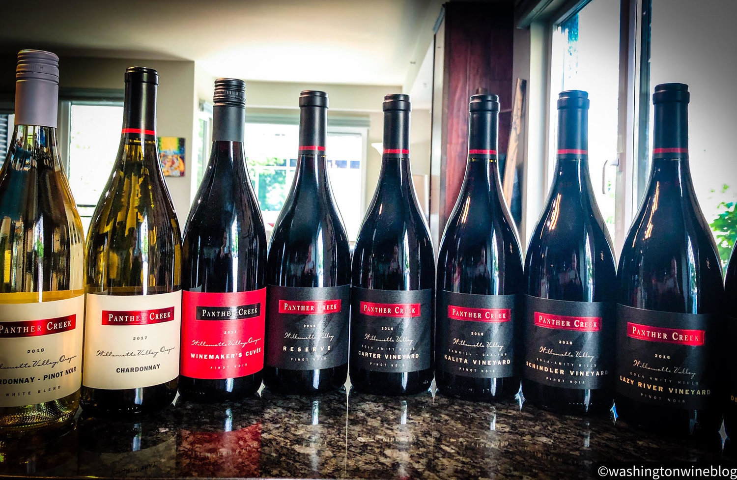 Panther Creek Cellars Wine Bottles in Washington Wine Blog Review