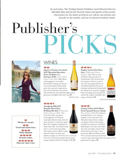 Panther Creek 2016 Pinot Gris Scores 93 Points | The Tasting Panel Publisher's Picks